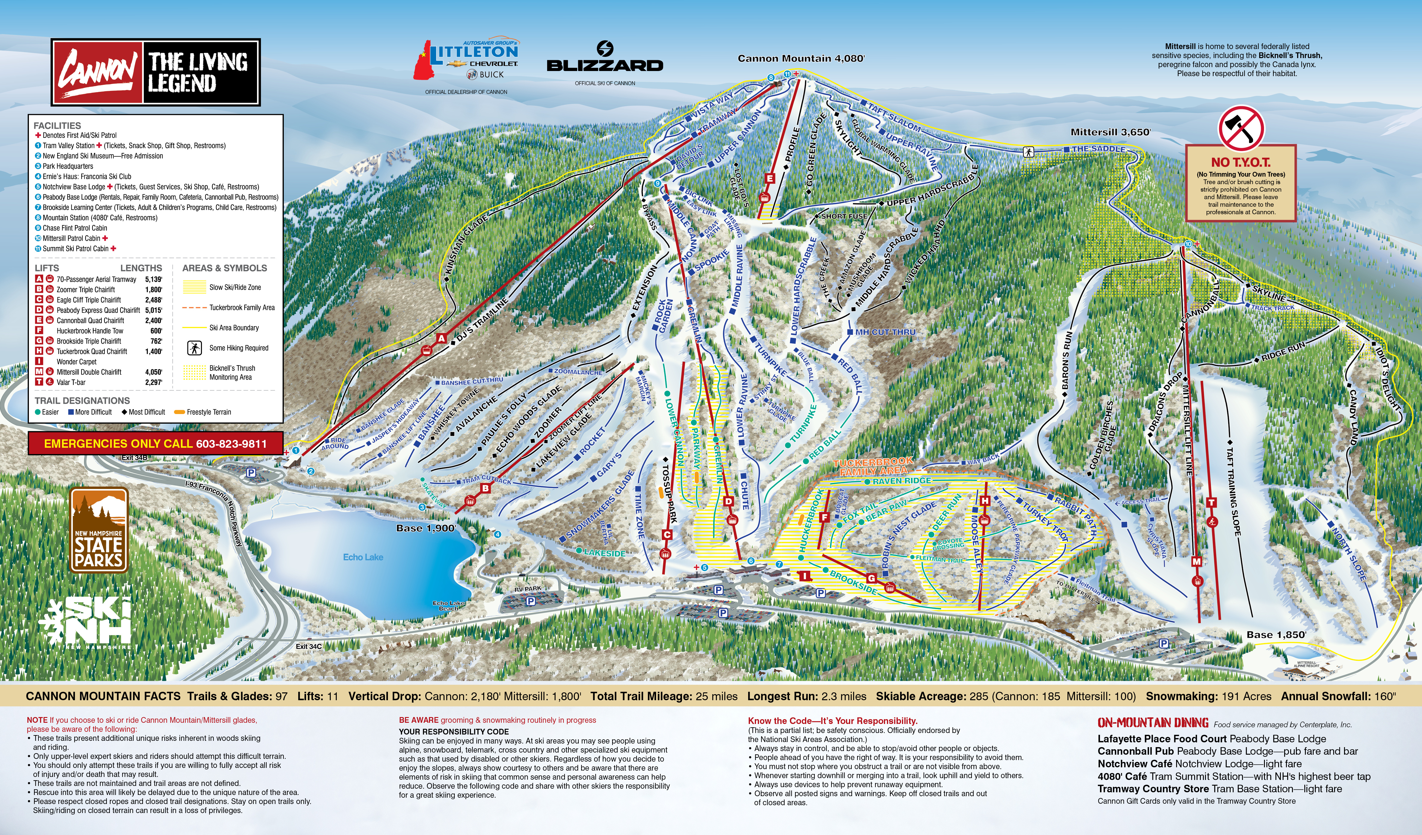 Trail Map - Cannon Mountain